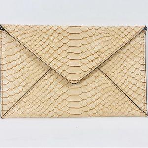 Loeffler Randall Embossed Leather Envelope Clutch